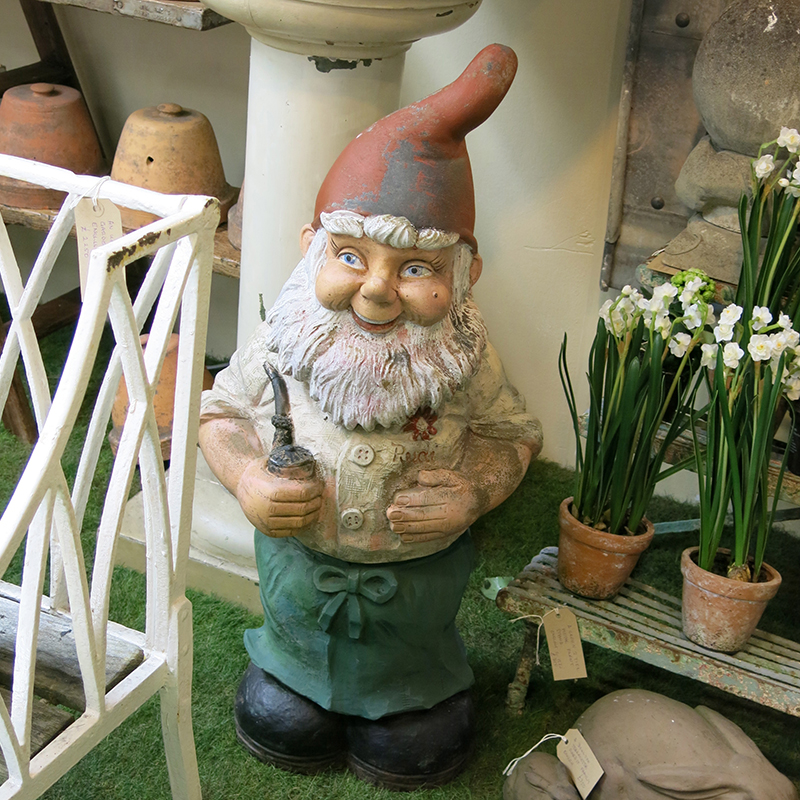 Garden gnome looking for home