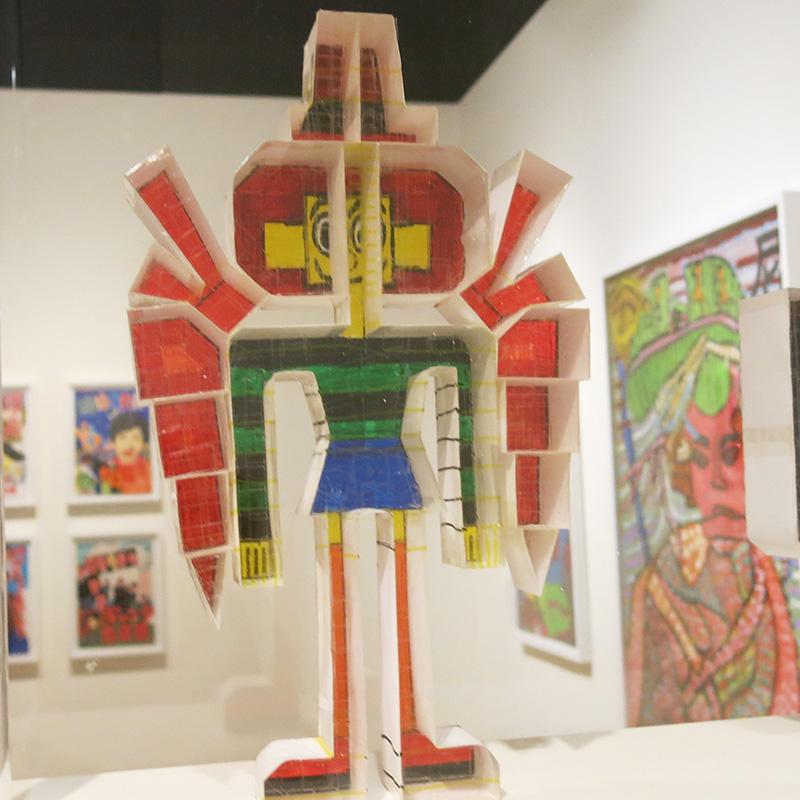 Keisuke Ishino's paper cartoon figurine