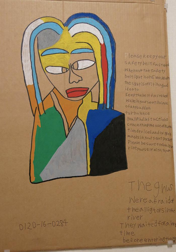 MK Lady with rainbow coloured hair