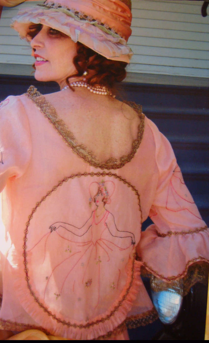 Back of Cicely's 1920s dress