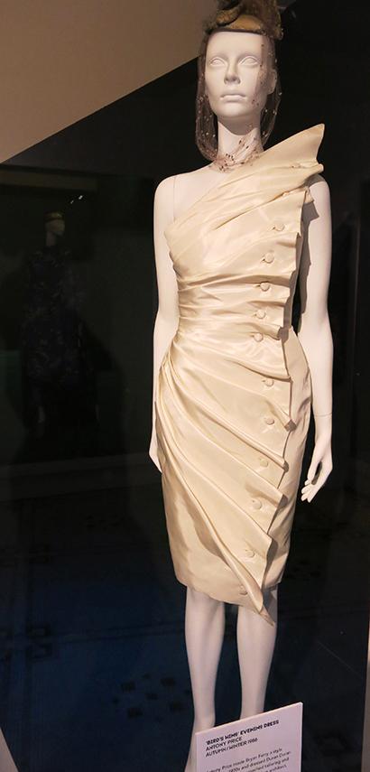 Antony Price's architectural Bird's Wing dress in silk taffeta A/W 1986