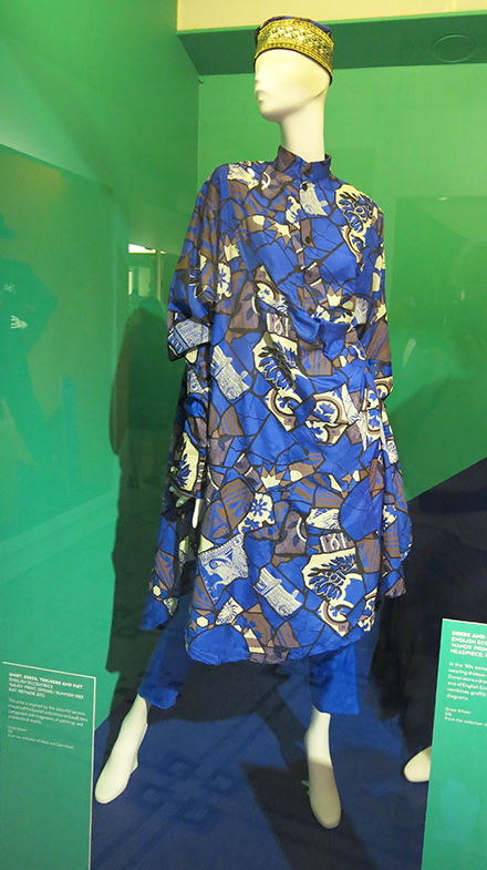 Shirt, dress, trousers and hat by English Eccentrics using their Gaudi print from S/S 1985