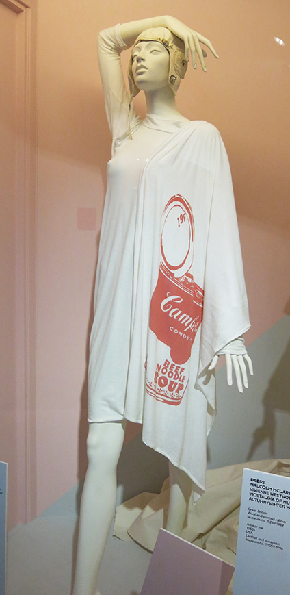 Malcolm McClaren and Vivienne Westwood toga dress from Nostalgia of Mud Collection A/W 1982-3