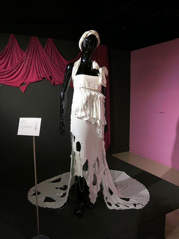 Zandra Rhodes conceptual chic wedding dress 1977