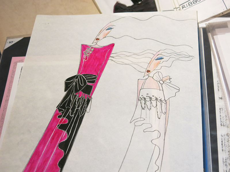Zandra Rhodes illustrations for Conceptual Chic collection