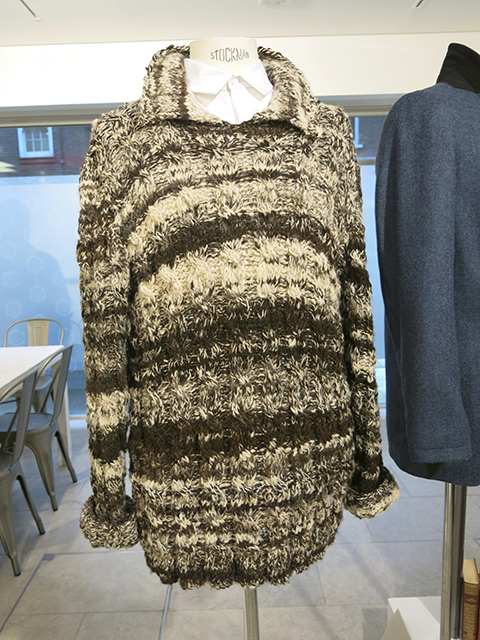 Hand knitted jumper by Tobefrank