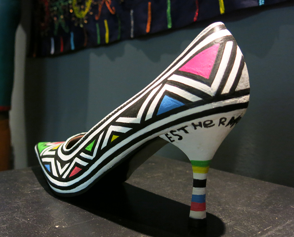 Hand painted shoe