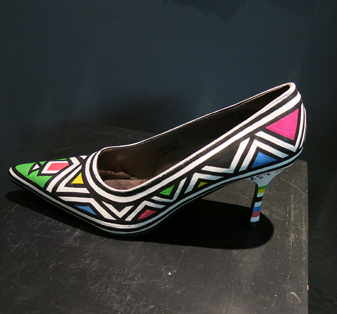 South African hand painted shoe