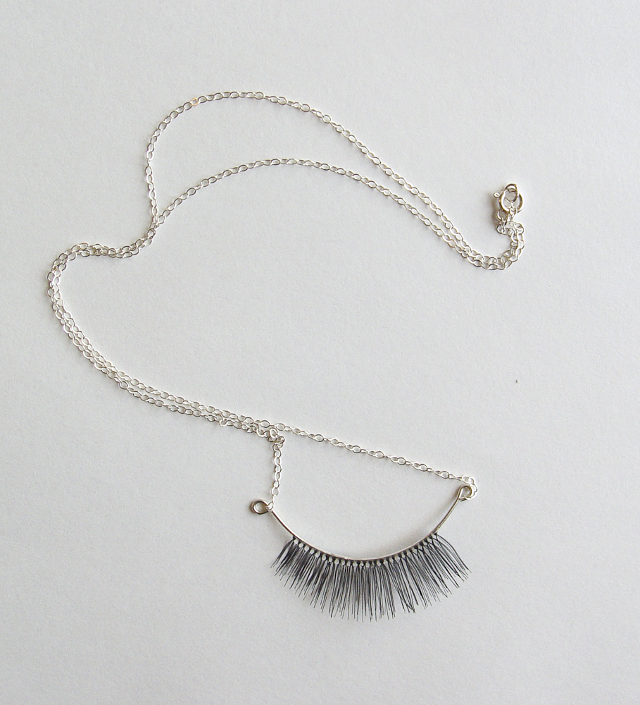Eyelash necklace 2 Stephanie Simek
