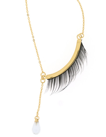 Miss Bibi eyelash necklace