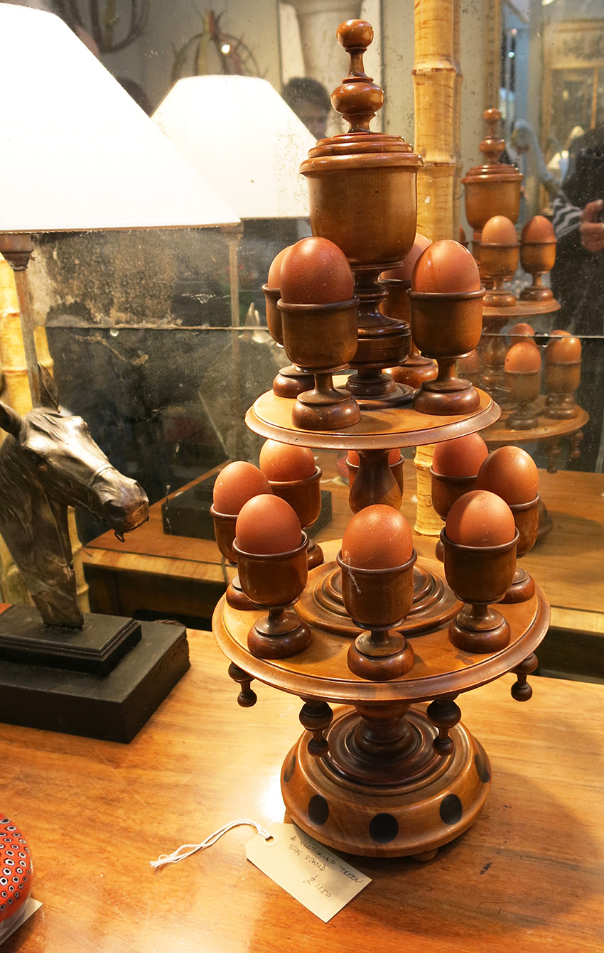 Antique egg stand