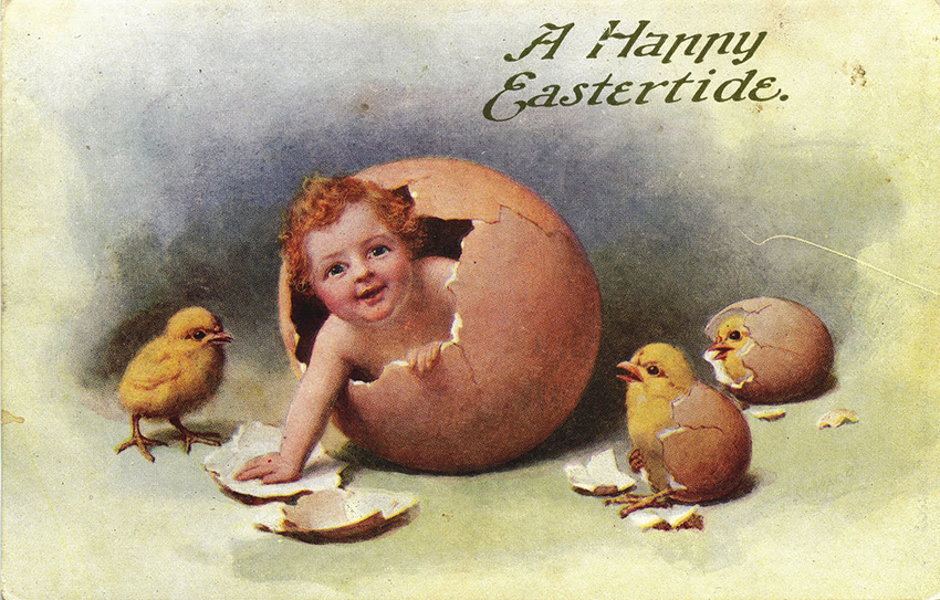 Easter card via Kissed Mouth blog