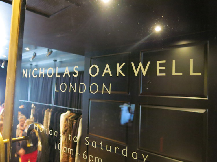Nicholas Oakwell at Claridges