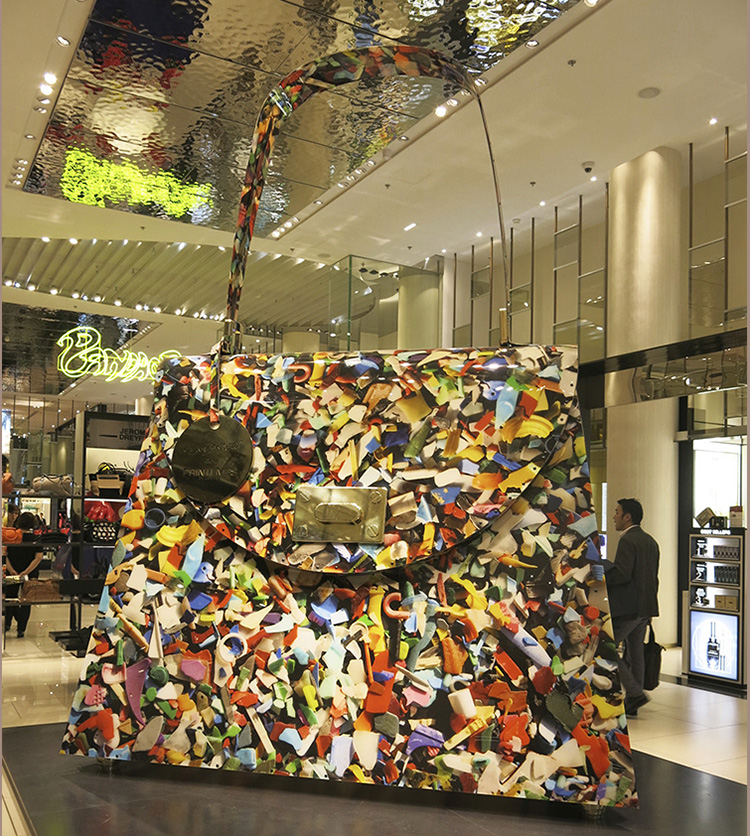 Giant handbag from Pop the Bag at Printemps Louvre