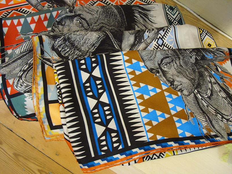 Loup Noir silk scarves