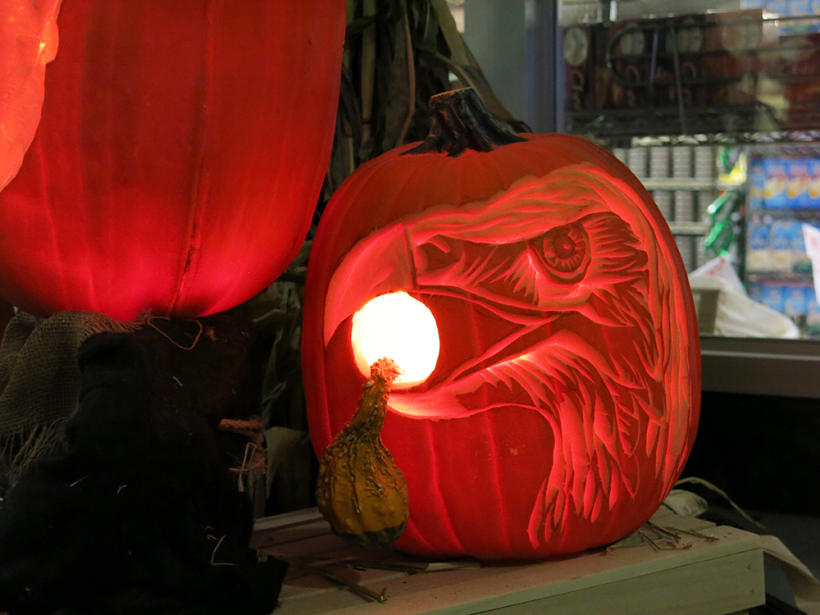 Eagle eye pumpkin
