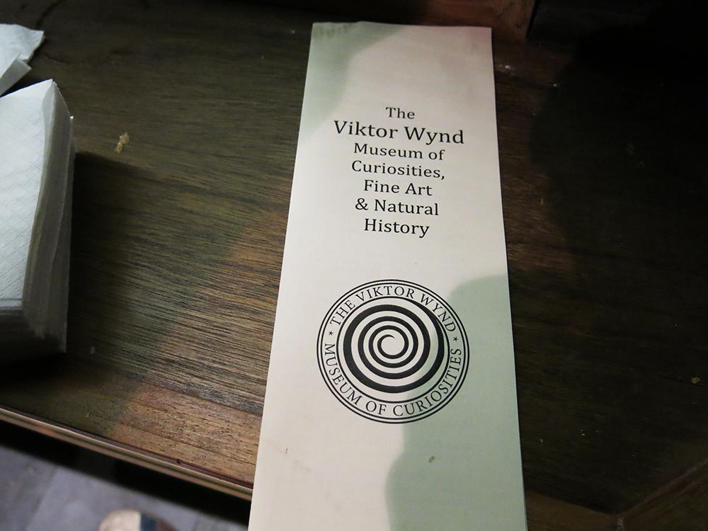 Viktor Wynd menu