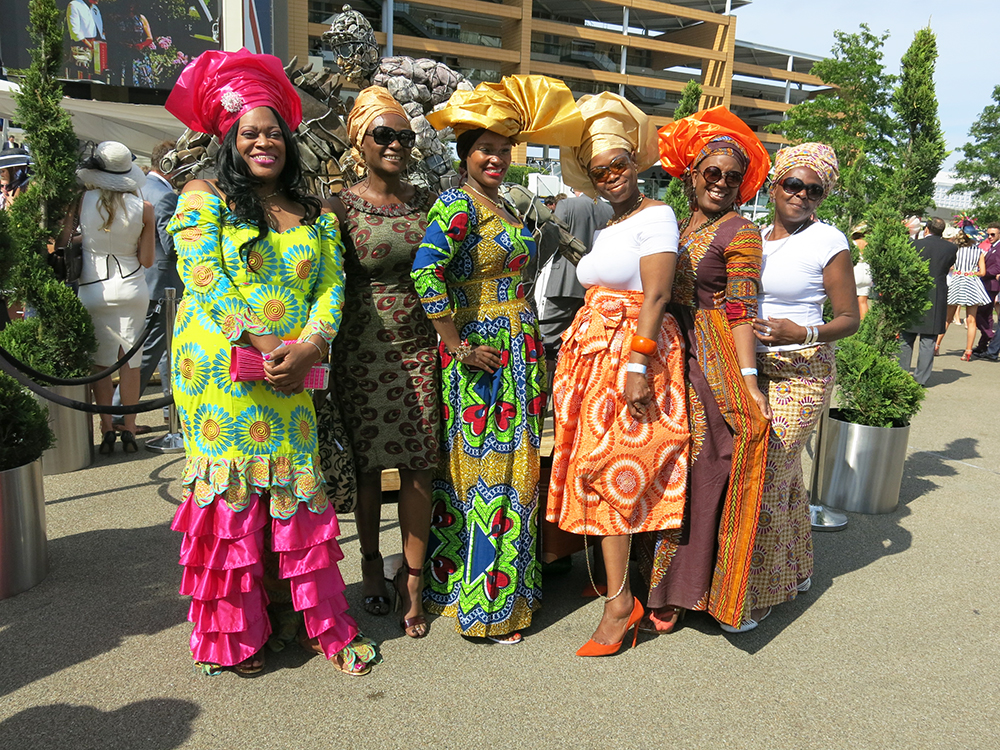 African oufits at Ascot