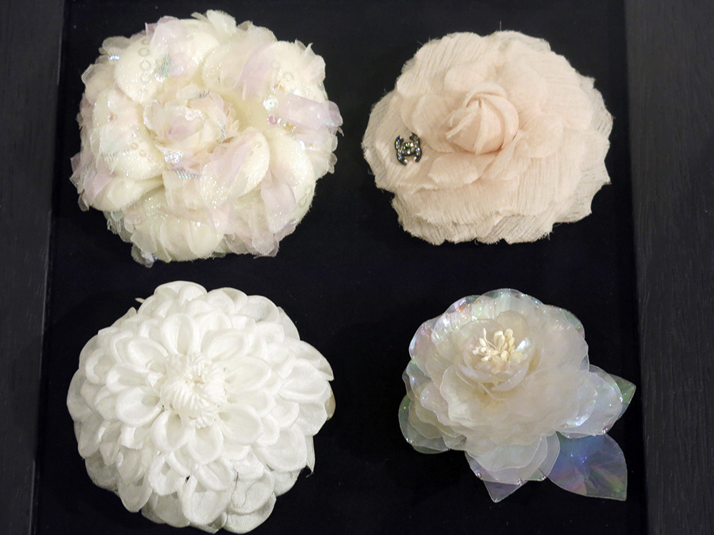 Chanel camellias by Lemarie